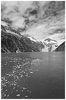 Northwestern Fjord. Kenai Fjords National Park, Alaska, USA. (black and white)