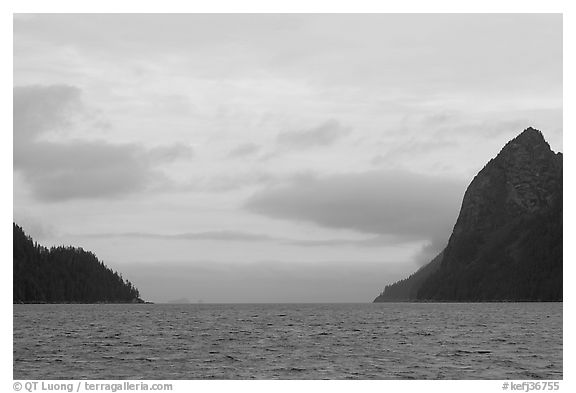 Peaks and fog. Kenai Fjords National Park (black and white)