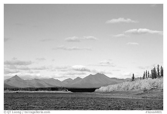 River and Baird mountains. Kobuk Valley National Park (black and white)
