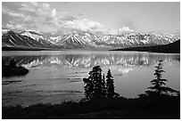 Twin Lakes, evening. Lake Clark National Park ( black and white)