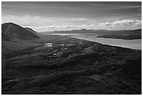 Looking south from Tanalian Mountain. Lake Clark National Park ( black and white)