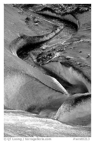 Glacial stream on Root glacier. Wrangell-St Elias National Park (black and white)