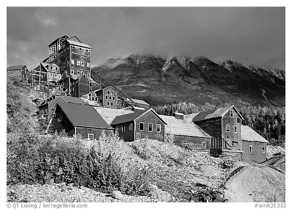 Kennecott abandonned mining buildings. Wrangell-St Elias National Park, Alaska, USA.