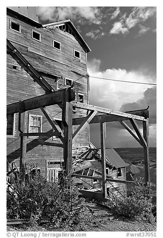 Kennecott Mill, late afternoon. Wrangell-St Elias National Park (black and white)