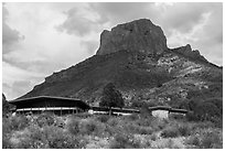Chisos Mountain Lodge. Big Bend National Park ( black and white)