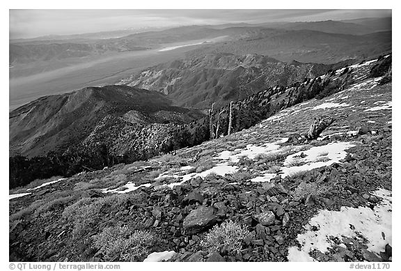 View from Telescope Peak. Death Valley National Park (black and white)