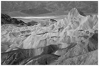 Zabriskie point, dawn. Death Valley National Park ( black and white)