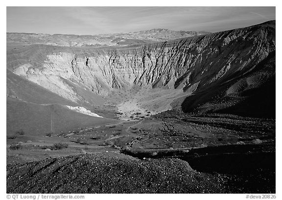 Ubehebe Crater. Death Valley National Park (black and white)