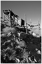 Cashier's mine, afternoon. Death Valley National Park ( black and white)