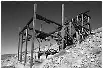 Cashier mine near Eureka mine, morning. Death Valley National Park ( black and white)