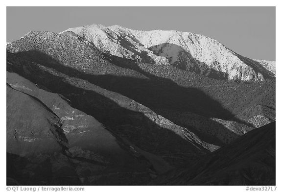 Telescope Peak at sunset. Death Valley National Park (black and white)