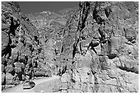 Titus Canyon Narrows. Death Valley National Park ( black and white)