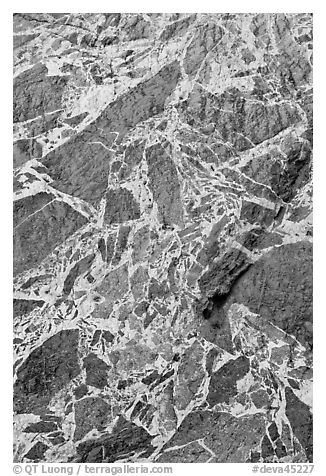 Detail of marbled wall, Titus Canyon. Death Valley National Park (black and white)