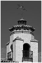 Tower and weathervane, Scotty's Castle. Death Valley National Park ( black and white)