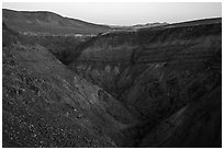 Rainbow Canyon. Death Valley National Park ( black and white)
