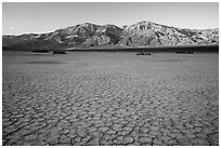 Mud playa, Panamint Valley. Death Valley National Park ( black and white)