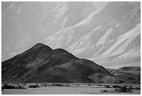 Hill and mountains, Panamint Valley. Death Valley National Park ( black and white)