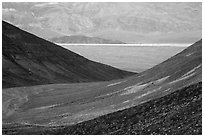 Side valley leading to Panamint Valley. Death Valley National Park ( black and white)
