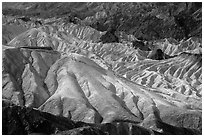 Zabriskie Point observation platform. Death Valley National Park ( black and white)