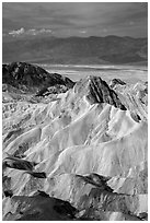 Manly Beacon and main valley. Death Valley National Park ( black and white)