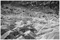 Badlands near Zabriskie Point. Death Valley National Park ( black and white)