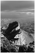 El Capitan backside seen from Guadalupe Peak. Guadalupe Mountains National Park ( black and white)