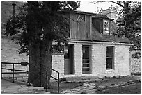 Frijole Ranch historic museum. Guadalupe Mountains National Park ( black and white)