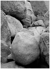 Boulders close-up, Hidden Valley. Joshua Tree National Park ( black and white)