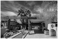 Oasis Visitor Center. Joshua Tree National Park ( black and white)