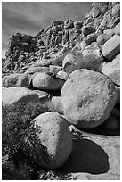 Jumble of rocks, Hidden Valley. Joshua Tree National Park ( black and white)