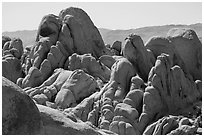 Granite boulders, White Tank. Joshua Tree National Park ( black and white)