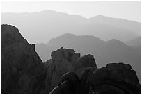 Ridges, Indian Cove. Joshua Tree National Park ( black and white)