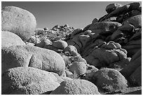 Boulders, White Tanks. Joshua Tree National Park ( black and white)