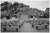 Amphitheater, Indian Cove Campground. Joshua Tree National Park ( black and white)