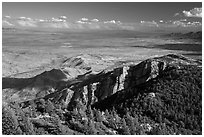 Wrong Mountain from Rincon Peak. Saguaro National Park ( black and white)