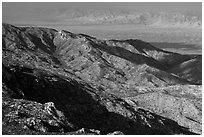 Ricon Mountain ridges. Saguaro National Park ( black and white)