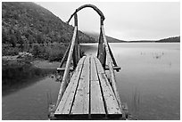 Footbridge, Jordan Pond. Acadia National Park ( black and white)
