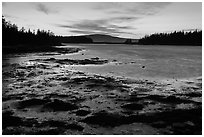 West Pond, sunset, Schoodic Peninsula. Acadia National Park ( black and white)