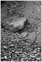 Pebbles in and out of water, Schoodic Peninsula. Acadia National Park ( black and white)