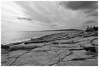 Rock slabs, Schoodic Point. Acadia National Park ( black and white)
