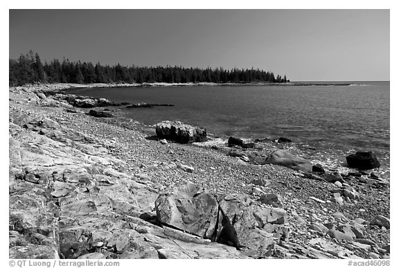 Barred Harbor, Isle Au Haut. Acadia National Park (black and white)
