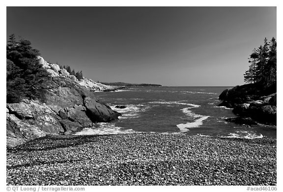Deep Cove, Isle Au Haut. Acadia National Park (black and white)