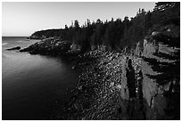 Monument Cove. Acadia National Park ( black and white)