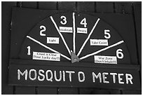 Mosquito Meter in old visitor center. Congaree National Park ( black and white)