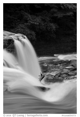 Brink of Great Falls, Bedford Reservation. Cuyahoga Valley National Park (black and white)