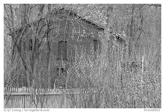 Hale Farm, early spring. Cuyahoga Valley National Park (black and white)