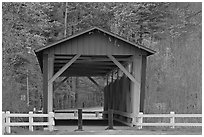 Everett Road covered bridge. Cuyahoga Valley National Park, Ohio, USA. (black and white)