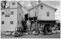 Wilson Feed  Mill. Cuyahoga Valley National Park, Ohio, USA. (black and white)