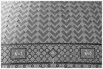 Detail of tiled dome of Quapaw Baths. Hot Springs National Park, Arkansas, USA. (black and white)