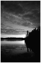 Lake Chippewa at sunset. Isle Royale National Park ( black and white)